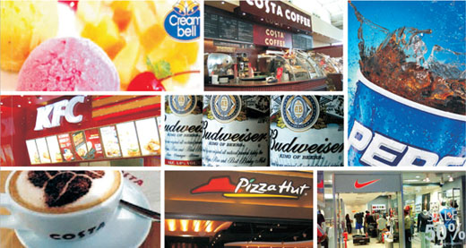 Our brands Pepsi, Pizza Hut, KFC, Cryoviva, Costa Coffee, Nike